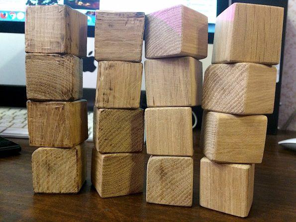Дубовые кубики